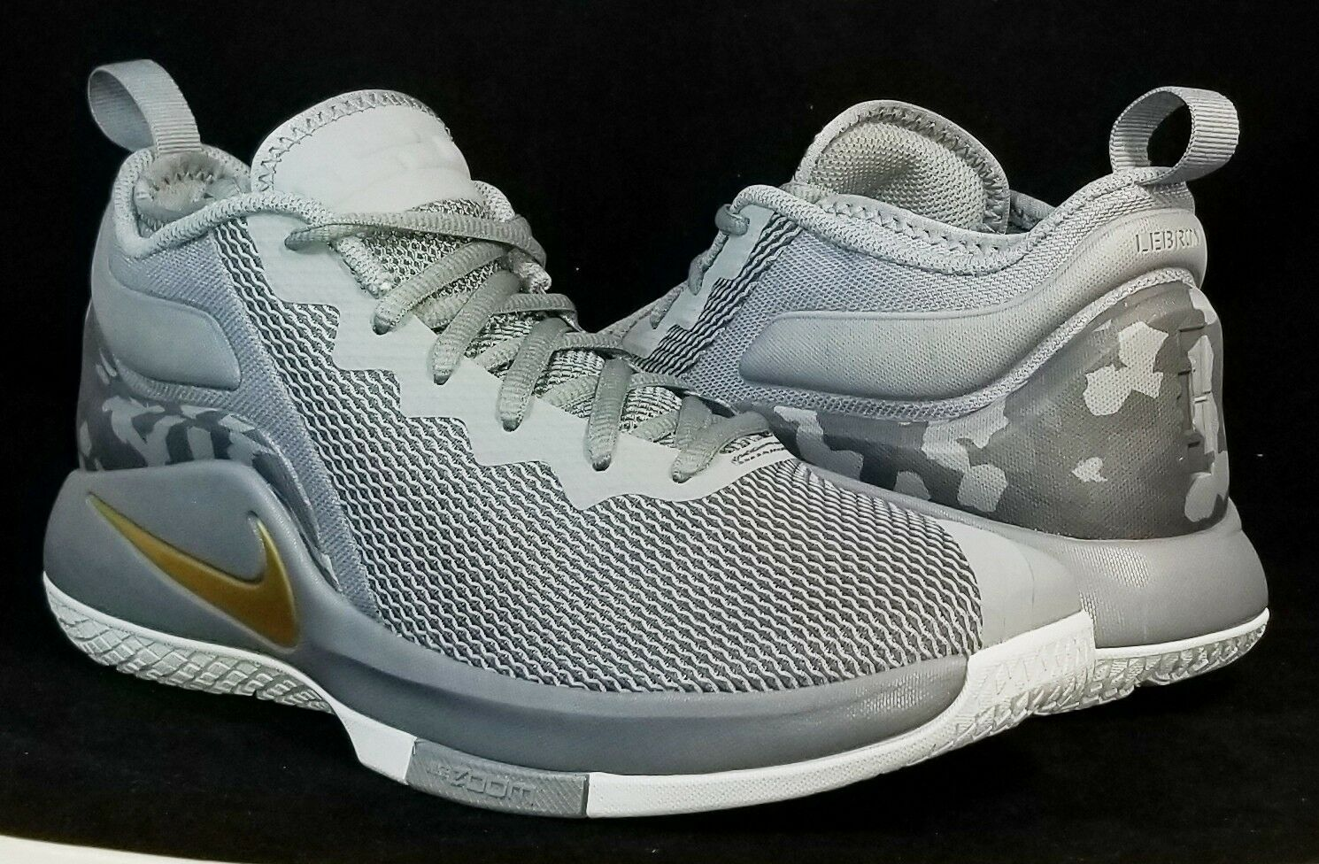NIB NIKE Mens 10 LEBRON WITNESS II 942518 009 GREY GOLD BASKETBALL SHOES Price reduction New shoes for men and women, limited time discount