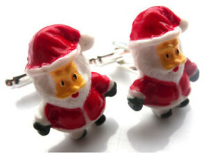 Father Christmas Images Free.Details About Beautiful Handmade Father Christmas Cufflinks Free Gift Bag