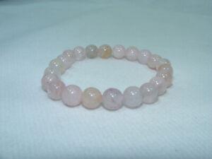 Bracelet de perles QUARTZ ROSE Pierres naturelles 8 mm 18cm Lithothérapie