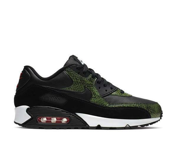 Nike Air Max 90 QS Green Python Black Cyber Fir Cd0916 001 Men's Size 12