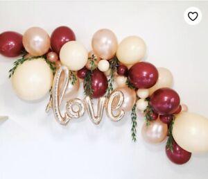 Details About Diy Blush Burgundy Rose Gold Balloon Garland Kit Party Decorations Weddings