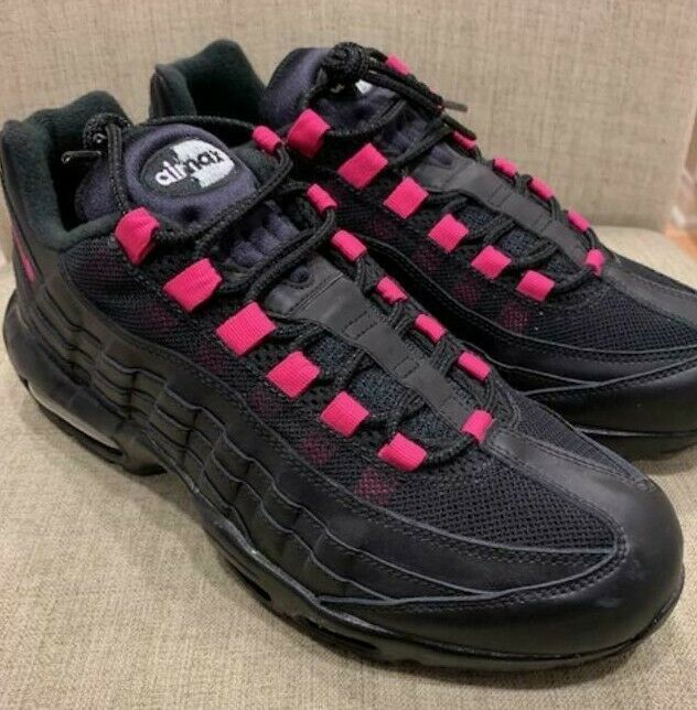 official photos 06410 f5fee Nike Air Max 95 95 95 ID Black Pink Infrared Sz 10 DS Mens bd5b76