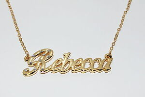 Pendant Personalized Gifts For Her LEANNE 18ct Gold Plating Necklace With Name