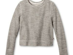 19286c3f0e TOMS for Target Women s French Terry Sweatshirt Gray Sparkle Size ...