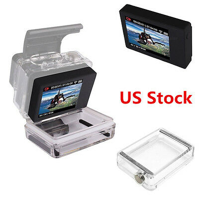 Pro LCD BacPac Display Viewer Monitor Screen+Rear Door Case f GoPro 3 White/3+/4