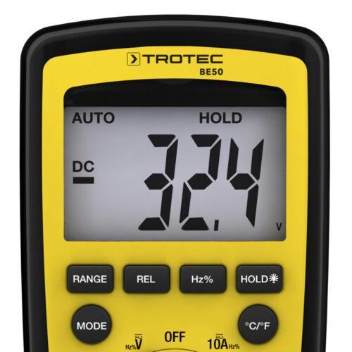 TROTEC BE50 Multimètre numérique à onze fonctions