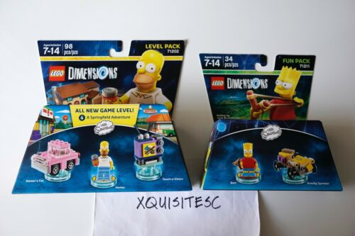 NEW LEGO Dimensions THE SIMPSONS 71202 Homer Level Pack 71211 Bart Fun Pack