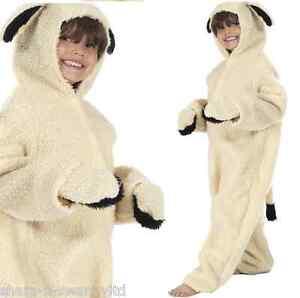 Girls-Boys-Furry-Lamb-Sheep-Animal-Christmas-Nativity-Fancy-Dress-Costume-Outfit
