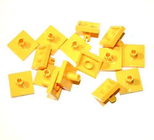 15x LEGO ® piastrella//PIASTRA 2x2 con Technic Pin 2460 NUOVO GIALLO