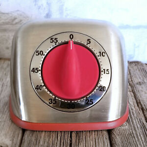 Martha-Stewart-Collection-Retro-60-Minute-Timer-Red-Chrome-Look