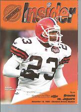Cleveland Browns vs. Jacksonville Jaguars program 12/19/99 Marquez Pope