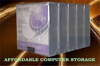 5-pack Sony Data Sdlt Cartridge Super Dlttape I 160/320gb Lot Of 5 Sdlt1-320