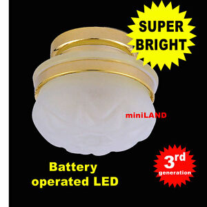 Frosted-Ceiling-bright-battery-operated-LED-LAMP-Dollhouse-miniature-light-1-12