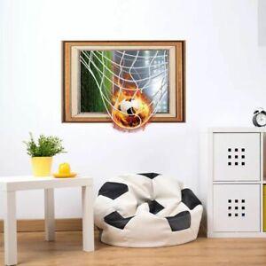 Details About Wandtattoo Wandsticker Kinderzimmer Wandaufkleber Fussball 3d Tor Ball Junge 175