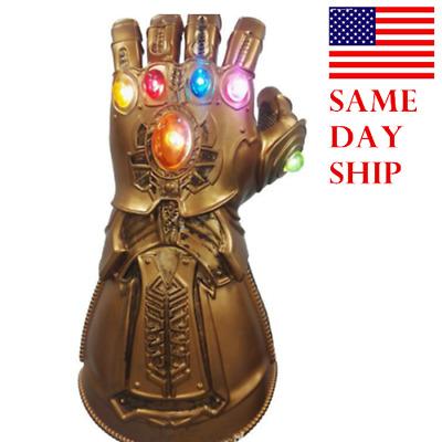 Avengers 3 Infinity War Gauntlet Glove LED Light Thanos Gloves Wear Cosplay Prop