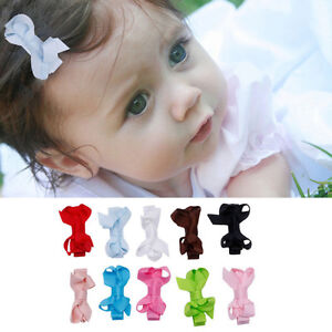 10pcs-Baby-Kids-Girl-Bow-Alligator-Hair-Clip-Grosgrain-Ribbon-Bowknot-Hairpin