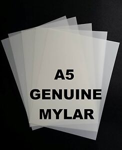 Details about 5 x A5 Mylar Sheets 190 Micron Making Airbrush Stencils Craft  Laser Safe mic ART