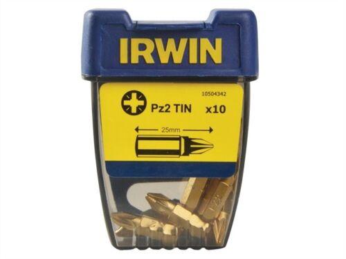 Embouts tournevis pozi pz2 25mm Titanium Pack de 10-irw10504342
