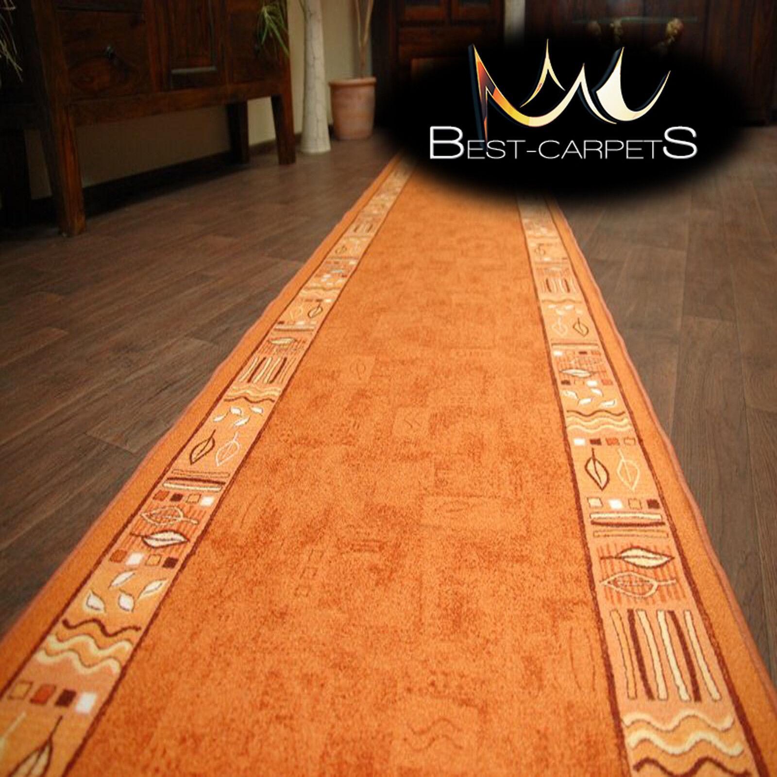 Coureur tapis, extra ramsès orange moderne, non-slip, escaliers largeur 67cm-120cm extra tapis, long b39c06