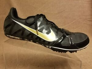 Nike Zoom Rival Sprint 456812-071 Men Black Track Racing Spikes Shoes Size 13