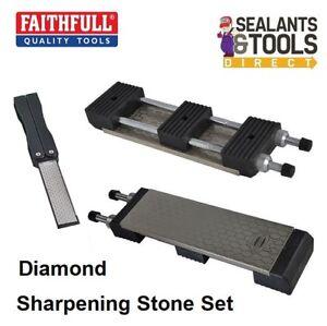 Faithfull Chisel Diamond Sharpening Stone Wet Dry Station