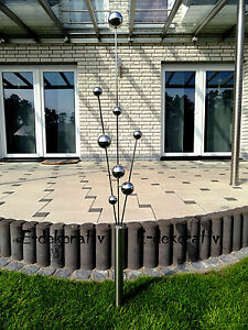 gartenstecker edelstahl deko garten deko skulptur teichdekoration neu 160 cm ebay. Black Bedroom Furniture Sets. Home Design Ideas