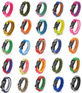 Hot-Paracord-Rope-Survival-Bracelet-Parachute-Cord-Fishbone-Bracelet-Bangle-pick
