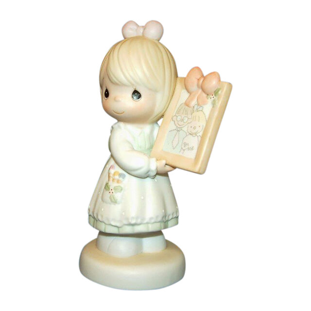 "Precious Moments-#521434 /""TO A VERY SPECIAL MOM /& DAD/"" Girl Holding Frame NIB"