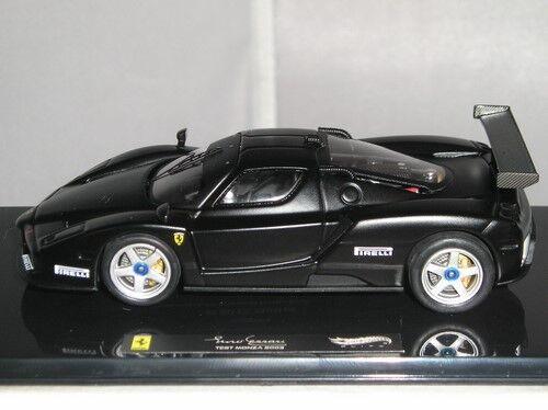 X5511 Hotwheels Elite Ferrari Enzo 2003 MONZA TEST AUTO OPACO NERO 1:43