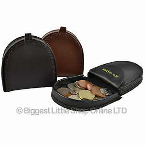 NEW-Mens-Small-Handy-Leather-COIN-TRAY-Purse-Wallet-in-3-Colours-Change-Holder