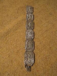 *** Schönes Altes Armband 835 Silber / 20er Jahre