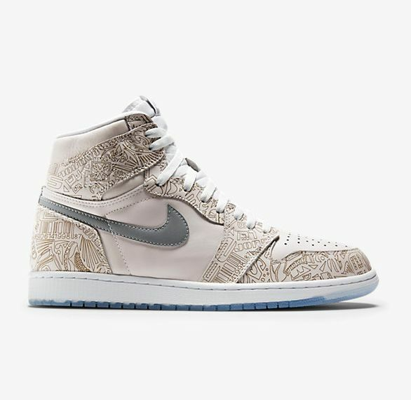 Nike Jordan Retro 1 High Laser Metallic Sliver White 30 Year Anniversary 10.5 Seasonal clearance sale
