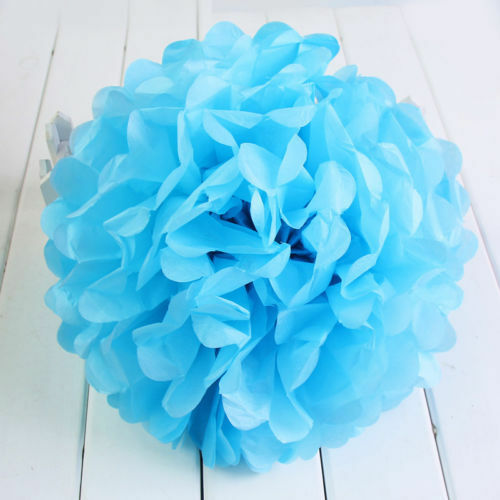 Christmas /& Party Decorations-8/'/' Pack of 10 Tissue Paper Pom Poms for Wedding