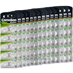 Camelion-Knopfzellen-Uhren-Batterie-Alkaline-AG0-AG13