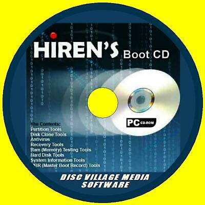 HIRENS BOOT UTILITY PC CD FORMAT PARTITION RECOVER FILES SECURITY  FIREWALLS+ NEW | eBay