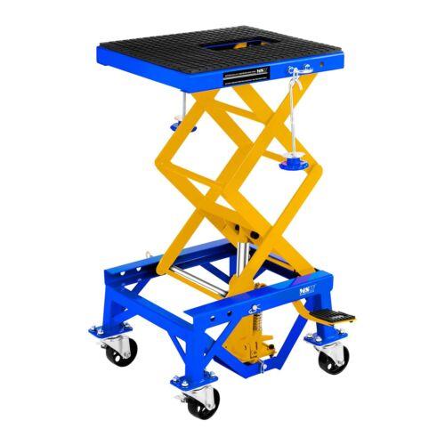 TABLE ELEVATRICE MOBILE PONT ELEVATEUR 4 ROUES AVEC FREINS 135 KG 35-87 CM