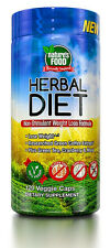NATURE'S FOOD 120 Caps HERBAL DIET Non-Stimulant WEIGHT LOSS FORMULA Exp. 9/17