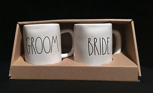 Rae Dunn Wedding Gift Box Set Mug Cup Large Letter Bride And Groom