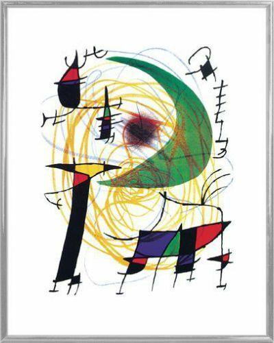 50x40cm Joan Miró Kunstdruck /& Kunststoff-Rahmen Silber #A1EM