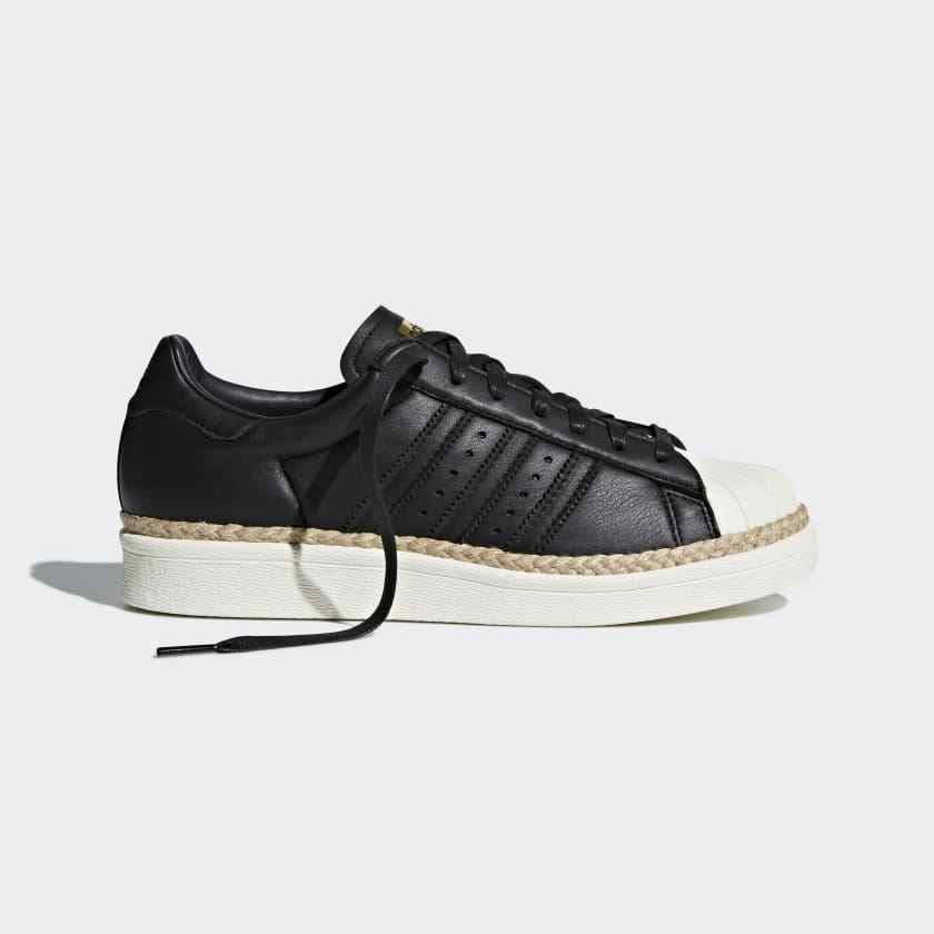 Adidas Originals Superstar 80 New  Szs 5 to 8 Corded nero Platform CQ2365  punto vendita