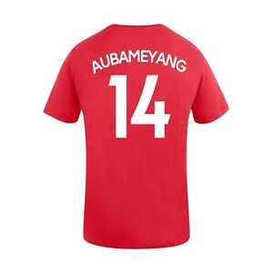 finest selection e176e 13c17 Details about Arsenal FC AUBAMEYANG #14 Player Tee (Red) Soccer T-Shirt  Gunners COYG AFC