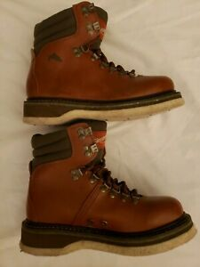 Simms-Fly-Fishing-Boots-Brown-Leather-Felt-Sole-Wading-Boots-Size-5-NICE-amp-CLEAN