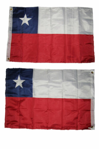 2x3 Chile Chilean 2 Faced 2-ply Wind Resistant Flag 2x3ft