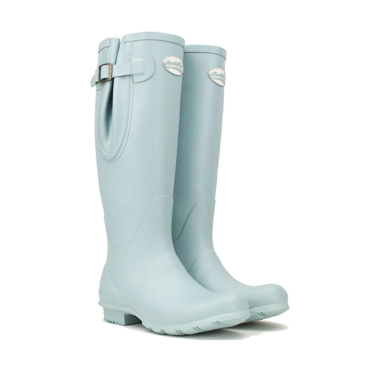 Rockfish Women's Tall Adjustable Matt Wellington Boot Various Colours Uk3 - UK8