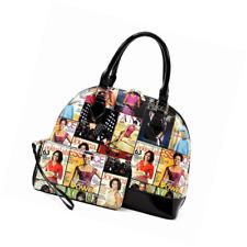 eec80af016c1 Michelle Obama Magazine Cover Collage Dome Satchel Purse Tote Bag ...