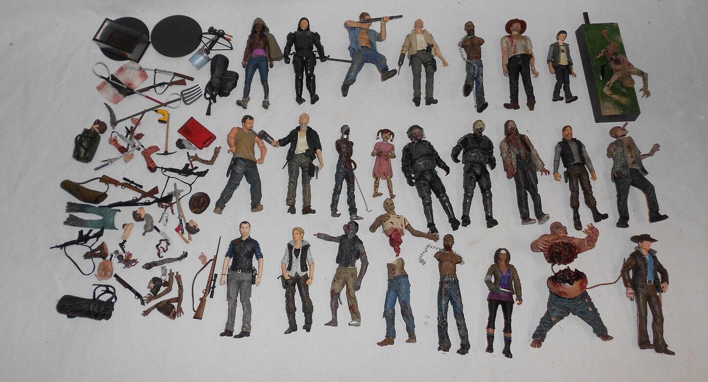 Walking Dead Lote de 25 figuras MCFARLANE TOYS TV y Comic Rick Daryl Zombies