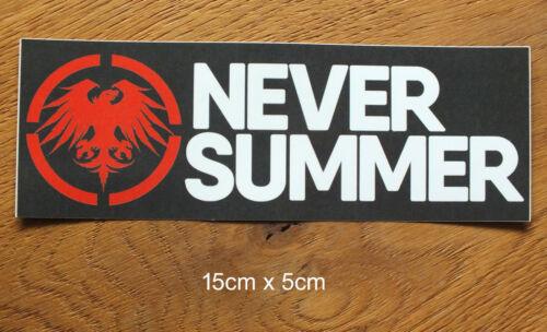 Never Summer Snowboard Wakeboards Freeride Aufkleber Sticker Outdoor S332