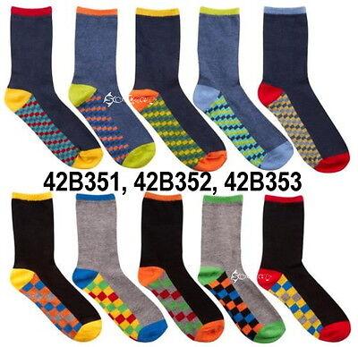 10 Pares Chicos días de la semana Algodón ricos Stripey diseñador calcetines Tamaños del zapato 6-5