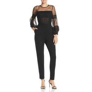 French Connection Womens Paulette Illusion Lace Trim Jumpsuit BHFO 0567