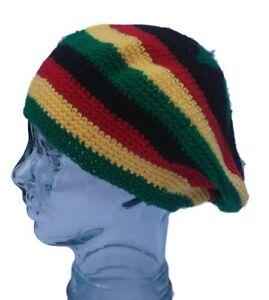 e2c68764f9e Image is loading Baggy-Rastafarian-Rasta-slouchy-beanie-hat
